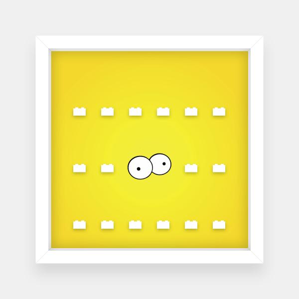 Ramka dla Lego Minifigures (Seria Simpsons 1, 2) #2 Oczy