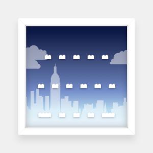 Ramka dla Lego Minifigures (Seria The Lego Movie) - #3 Miasto
