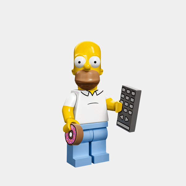 Homer Simpson - Lego Minifigures 71005 The Simpsons Series 1 - colsim-1