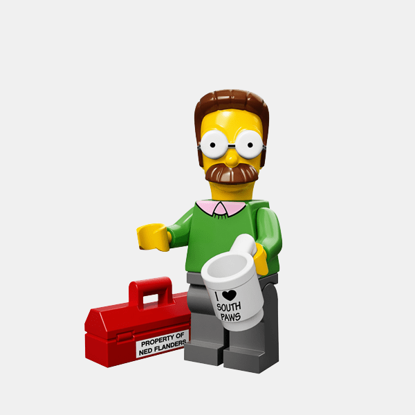 Ned Flanders - Lego Minifigures 71005 The Simpsons Series 1 - colsim-7