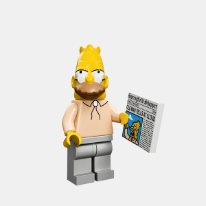 Grandpa Simpson - Lego Minifigures 71005 The Simpsons Series 1 - colsim-6