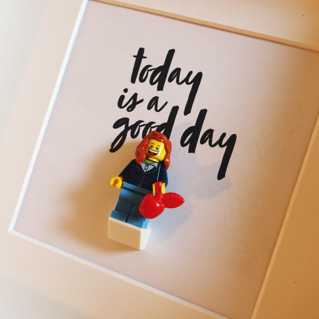 Jesienna ramka na prezent LEGO