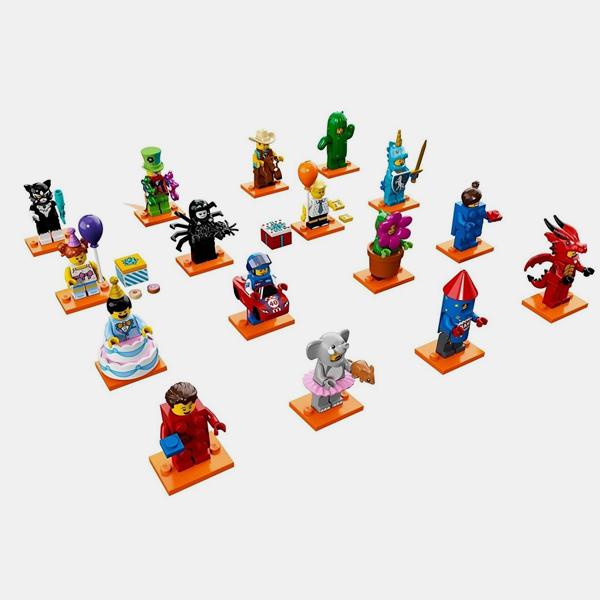 Kolekcja 16 figurek - Lego Minifigures 71021 Series 18 (bez policjanta)