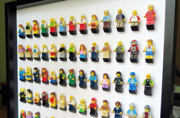 Duża gablotka LEGO