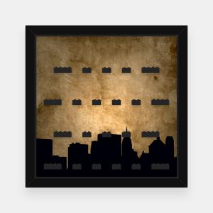 Ramka dla Lego Minifigures (Serie Harry Potter i Fantastyczne zwierzęta) - #3 Miasto