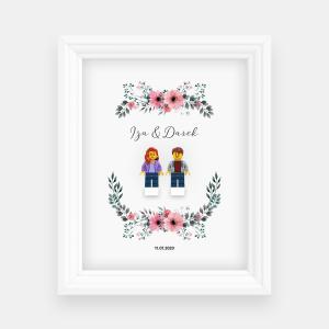 Ramka ślubna - kwiaty #1