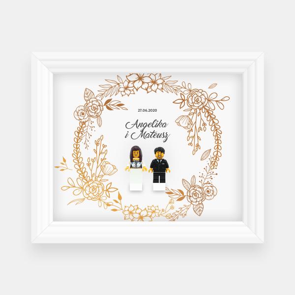 Ramka ślubna - kwiaty #2