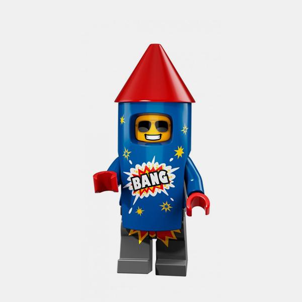 Firework Guy - Lego Minifigures 71021 Series 18 - col18-5