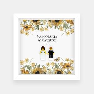 Ramka ślubna – słoneczniki