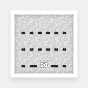 Ramka dla Lego Minifigures (Seria 20) - #2 Znaki zapytania