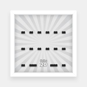 Ramka dla Lego Minifigures (Seria 20) - #1 Promienie