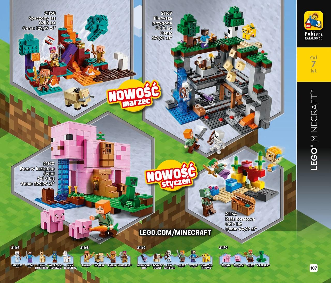 Katalog LEGO styczeń-maj 2021 - wersja polska - 107 - LEGO Minecraft
