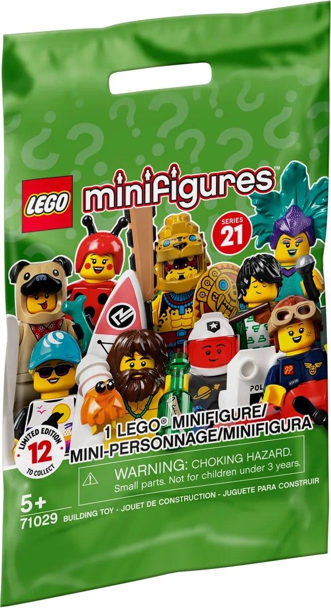 Motywem przewodnim nowej serii 21 będzie zielonkawy kolor ze znanymi już znakami zapytania, fot. LEGO.com