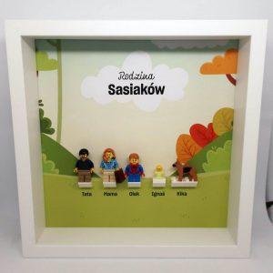 Rodzinna ramka z bobasem LEGO