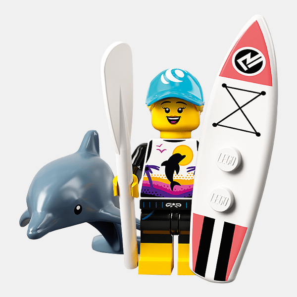 Paddle Surfer - Lego Minifigures 71029 Series 21 - col21-1
