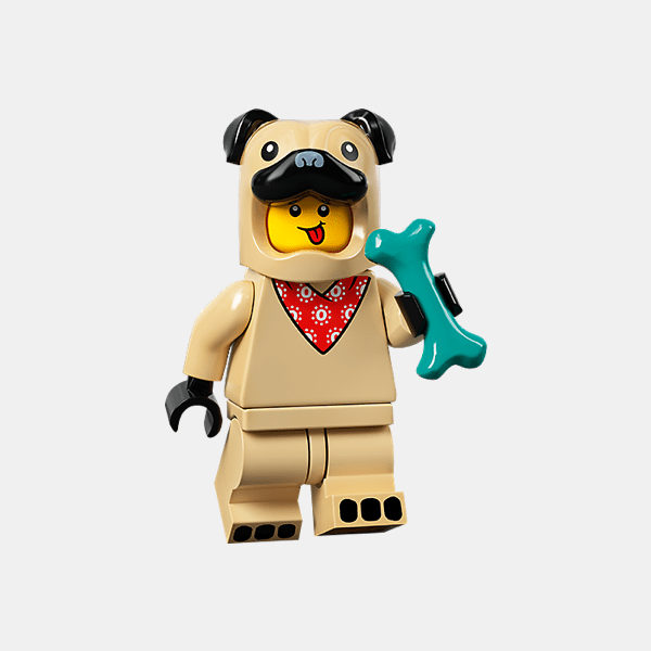 Pug Costume Guy - Lego Minifigures 71029 Series 21 - col21-5