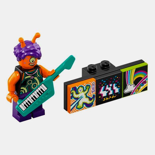 Alien Keytarist - Lego VIDIYO 43101 Bandmates Series 1 - vidbm01-9