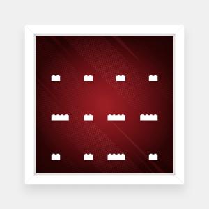 Ramka dla Lego Minifigures (Seria Marvel Studios) - #1 Czerwona